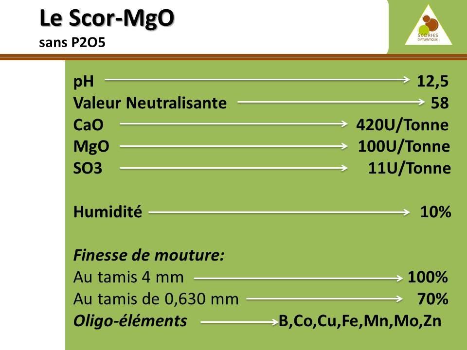 Produit Scor MgO